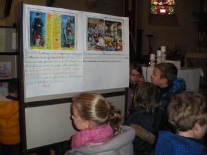 Les œuvres des élèves étaient également exposées dans l'église.